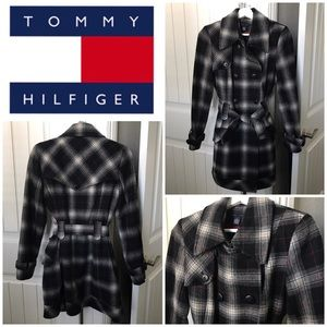 Tommy Hilfiger Plaid Coat Size 6